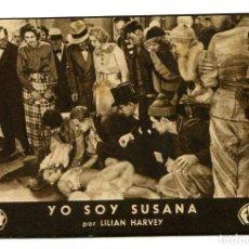 Cine: YO SOY SUSANA, CON LILIAN HARVEY.. Lote 175993287