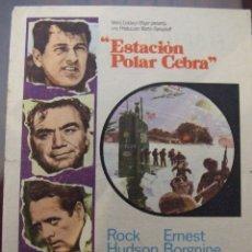 Cine: ESTACION POLAR CEBRA - SIMPLE CON PUBLICIDAD CINE FLORIDA BARCELONA - DOBLEZ. Lote 176099734