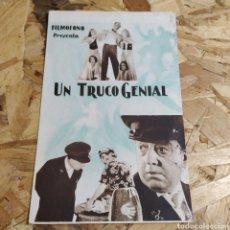 Cine: TARJETA DE CINE UN TRUCO GENIAL. Lote 176159854