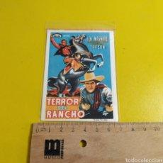 Cine: PEQUEÑO PROGRAMA DE CINE EL TERROR DEL RANCHO. Lote 176175694