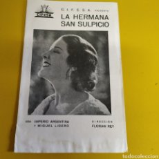 Cine: PROGRAMA DE CINE LA HERMANA SAN SULPICIO. Lote 176193515
