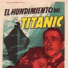 Cine: EL HUNDIMIENTO DEL TITANIC (CON PUBLICIDAD). Lote 176222048