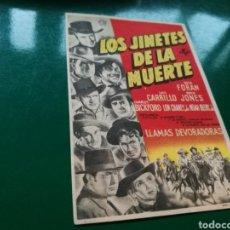 Cine: PROGRAMA DE CINE SIMPLE. LOS JINETES DE LA MUERTE. JORNADAS 6 A 9. LLAMAS DEVORADORAS. Lote 176259547