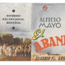 Cine: EL ABANDERADO CP DOBLE. Lote 176263979