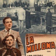 Cine: LA MILLONA DOBLE SP. Lote 176269327