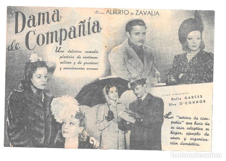 DAMA DE COMPAÑIA DOBLE SP (Cine - Folletos de Mano - Clásico Español)
