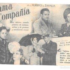 Cine: DAMA DE COMPAÑIA DOBLE SP. Lote 176269635