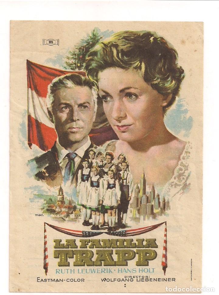 LA FAMILLIA TRAPP EN AMERICA CON PUBLICIDAD (Cine - Folletos de Mano - Musicales)