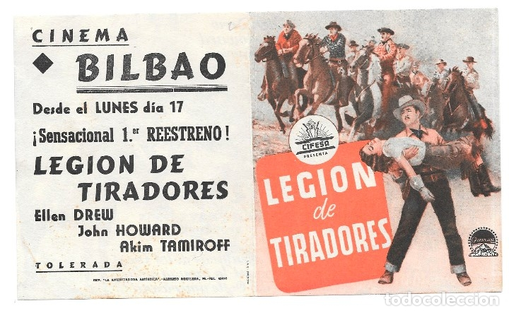 LEGION DE TRAIDORES DOBLE CP (Cine - Folletos de Mano - Westerns)