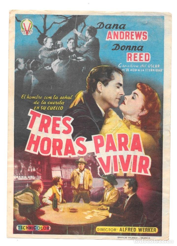 TRES HORAS PARA VIVIR CON PUBLICIDAD (Cine - Folletos de Mano - Westerns)
