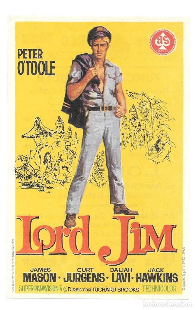 LORD JIM CP (Cine - Folletos de Mano - Aventura)