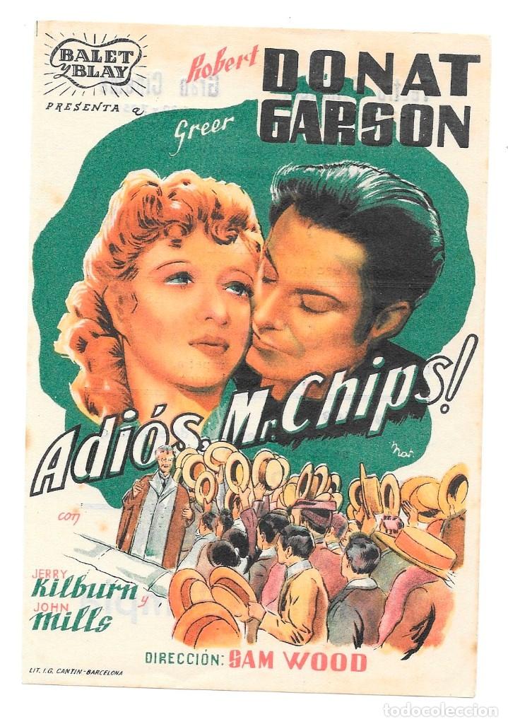 ADIOS MR CHIPS! CON PUBLICIDAD (Cine - Folletos de Mano - Aventura)