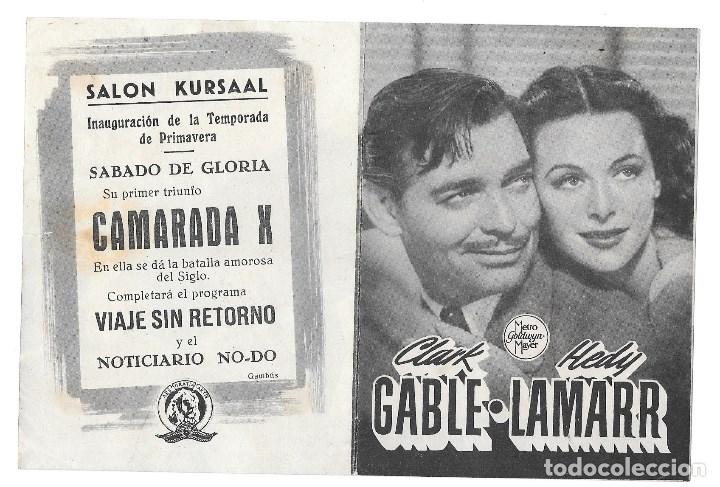 CAMARADA X CON PUBLICIDAD (Cine - Folletos de Mano - Comedia)