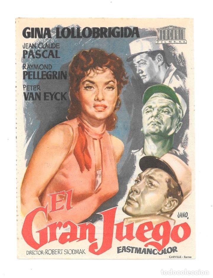 EL GRAN JUEGO CP (Cine - Folletos de Mano - Aventura)