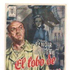 Cine: EL LOBO DE MALVENEUR CP. Lote 176271753