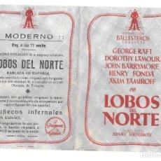 Cine: LOBOS DEL NORTE DOBLE CP. Lote 176272039