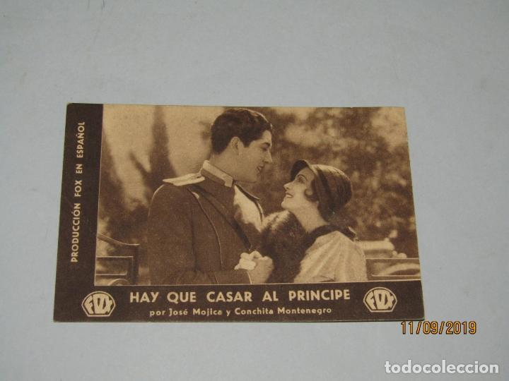 Cine: Antiguo Programa de Mano HAY QUE CASAR AL PRÍNCIPE por José Mojica y Conchita Montenegro - Año 1935 - Foto 2 - 176284555