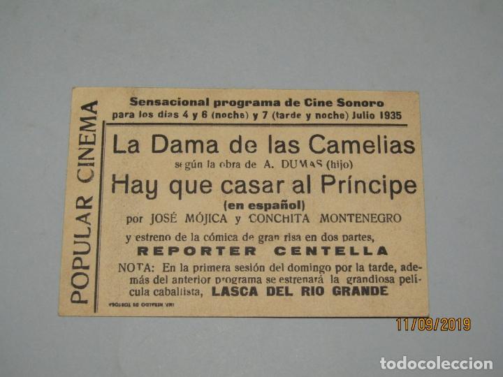 Cine: Antiguo Programa de Mano HAY QUE CASAR AL PRÍNCIPE por José Mojica y Conchita Montenegro - Año 1935 - Foto 3 - 176284555