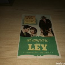 Cine: PROGRAMA DE CINE SIMPLE. AL AMPARO DE LA LEY. Lote 176356792