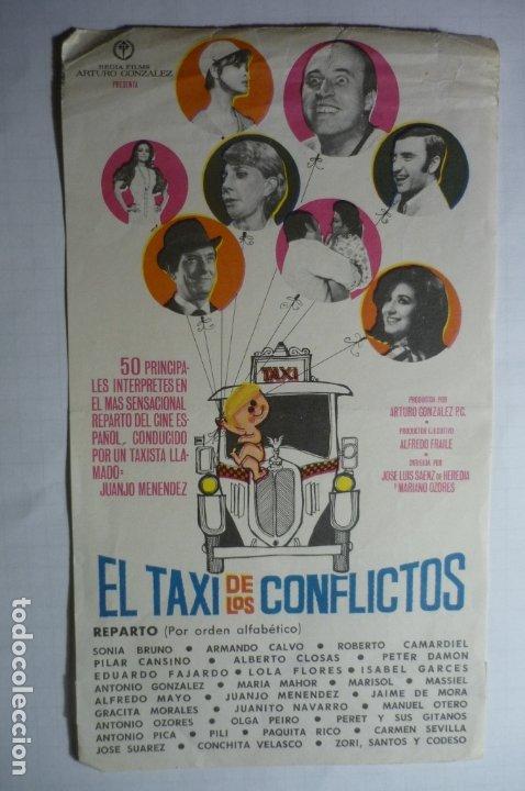 PROGRAMA EL TAXI DE LOS CONFLICTOS- JUANJO MENENDEZ --SELLO CINE (Cine - Folletos de Mano - Clásico Español)