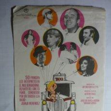 Cine: PROGRAMA EL TAXI DE LOS CONFLICTOS- JUANJO MENENDEZ --SELLO CINE. Lote 176420842