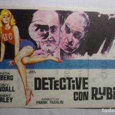 Cine: PROGRAMA DETECTIVE CON RUBIA - ANITA EKBERG PUBLICIDAD. Lote 176421860