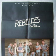 Cine: REBELDES CON TOM CRUISE. POSTER 65 X 95 CMS. 1984.. Lote 176426134