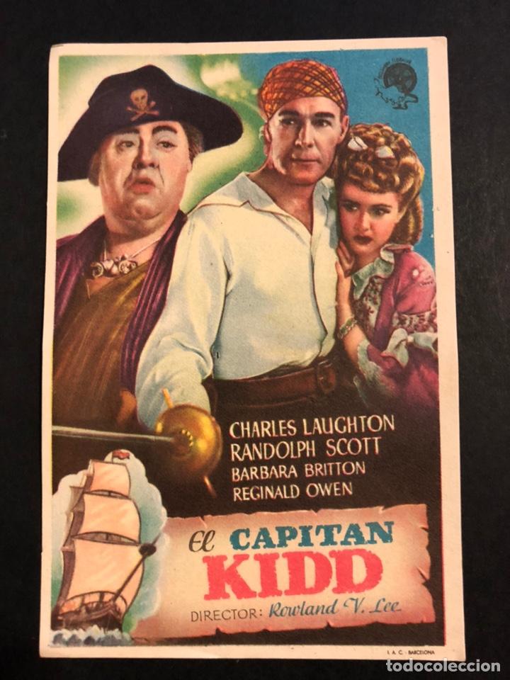 PROGRAMA EL CAPITÁN KIDD.CHARLES LAUGHTON (Cine - Folletos de Mano - Drama)
