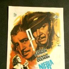 Foglietti di film di film antichi di cinema: NIEBLA EN EL PASADO (FILM USA 1942) FOLLETO DE MANO - CINE PICAROL (BADALONA) RONALD COLMAN (RARO). Lote 290241818
