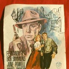Cine: BILLETE PARA TANGER (FILM ESPAÑOL 1955) FOLLETO DE MANO - SIN PUBLICIDAD. Lote 176508962