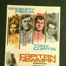Cine: CAPITAN NEWMAN (FILM USA 1963) FOLLETO DE MANO - CINE PICAROL (BADALONA) GREGORY PECK Y TONY CURTIS. Lote 176509902