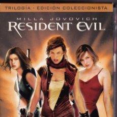 Cine: TRILOGIA RESIDENT EVIL PELICULA DVD LA SAGA 1 2 3 TERROR FICCION MILLA JOVOVICH. Lote 176731357