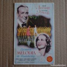 Cine: LA NUEVA MELODIA DE BROADWAY. FRED ASTAIRE / ELEANOR POWELL. 1944. CINE DOMENECH - RUBI. LITERACOMIC. Lote 176797695