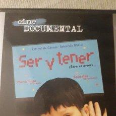 Cine: SER Y TENER DVD. Lote 176895815