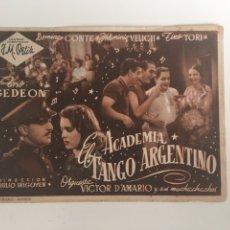 Flyers Publicitaires de films Anciens: ACADEMIA EL TANGO ARGENTINO J M ORTIZ. Lote 176954958