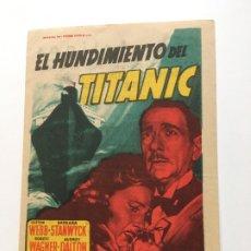 Cine: EL HUNDIMIENTO DEL TITANIC - PROGRAMA DE CINE BADALONA C/P. Lote 176994352