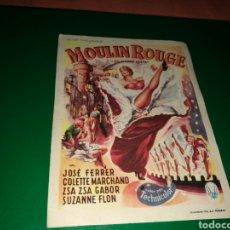 Cine: PROGRAMA DE CINE SIMPLE. MOULIN ROUGE. Lote 177200130