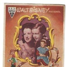 Flyers Publicitaires de films Anciens: CANCIÓN DEL SUR - PROGRAMA DE CINE BADALONA C/P 1955. Lote 177302908