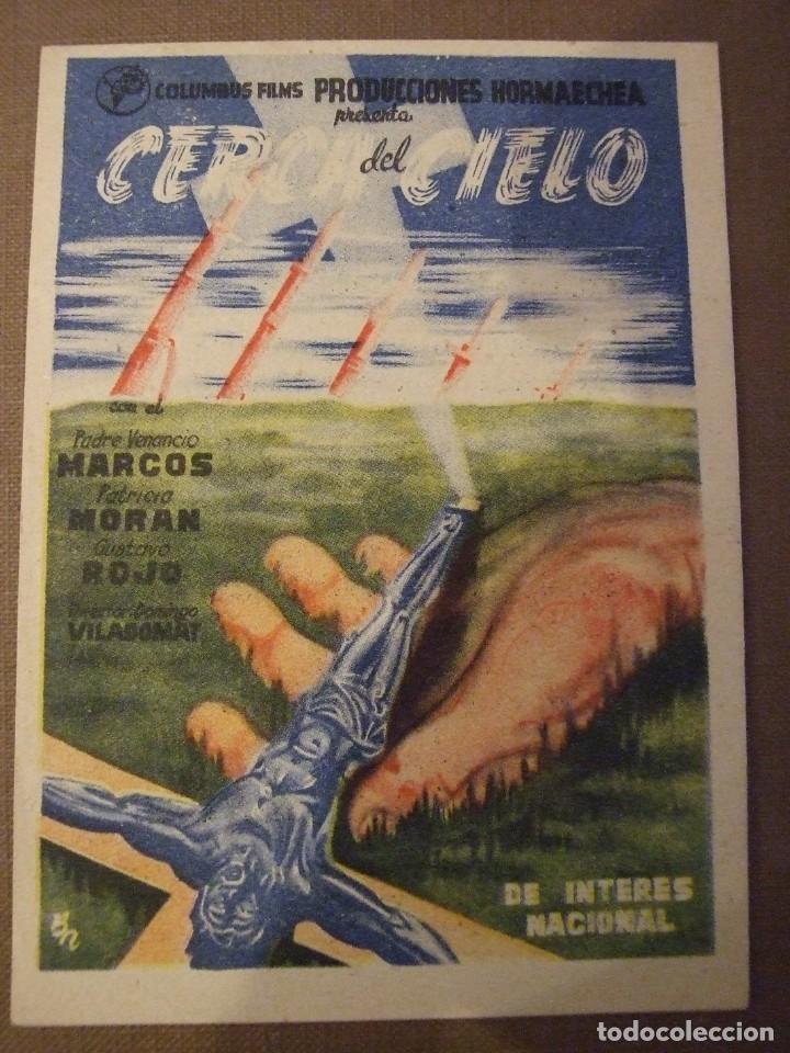 CERCA DEL CIELO - SIMPLE CON PUBLICIDAD CINE TIVOLI MALGRAT DE MAR - PERFECTO (Cine - Folletos de Mano - Bélicas)