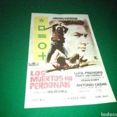 Cine: PROGRAMA DE CINE SIMPLE. LOS MUERTOS NO PERDONAN. Lote 177426029