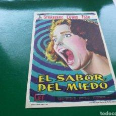 Cine: PROGRAMA DE CINE SIMPLE. EL SABOR DEL MIEDO. Lote 177471950