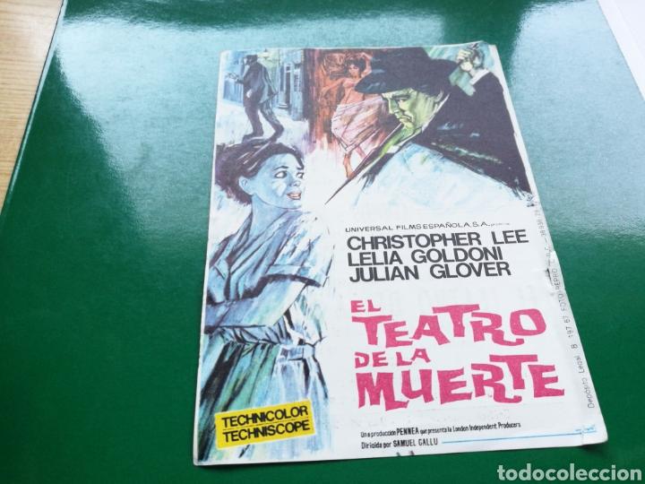 PROGRAMA DE CINE SIMPLE. EL TEATRO DE LA MUERTE. CINE MARI DE LEÓN (Cine - Folletos de Mano - Terror)