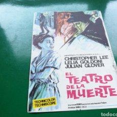 Cine: PROGRAMA DE CINE SIMPLE. EL TEATRO DE LA MUERTE. CINE MARI DE LEÓN. Lote 177472130