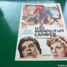 Cine: PROGRAMA DE CINE SIMPLE. HAN MATADO UN CADÁVER. Lote 177473022
