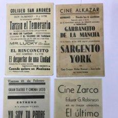 Cine: 4 PROGRAMAS DE CINES DE CÓRDOBA, ALKAZAR, GRAN TEATRO, SAN ANDRES ZARCO. Lote 177510422