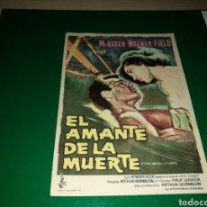 Cine: PROGRAMA DE CINE SIMPLE GRANDE. EL AMANTE DE LA MUERTE. Lote 228301730
