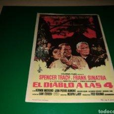 Cine: PROGRAMA DE CINE SIMPLE GRANDE. EL DIABLO A LAS CUATRO. Lote 177512155