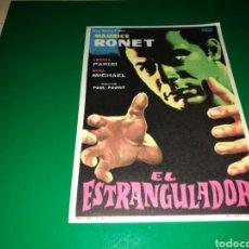 Cine: PROGRAMA DE CINE SIMPLE GRANDE. EL ESTRANGULADOR. Lote 177512263