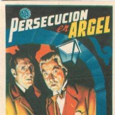 Cine: PROGRAMA DE CINE - PERSECUCIÓN EN ARGEL - BASIL RATHBONE, NIGEL BRUCE - CINE ALKAZAR (MÁLAGA) - 1948. Lote 177548425