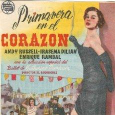 Foglietti di film di film antichi di cinema: PROGRAMA DE CINE - PRIMAVERA EN EL CORAZÓN - ANDY RUSSELL, IRASEMA DILIAN - CINEMA ESPAÑA (MÁLAGA) . Lote 177561503
